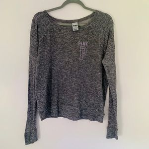 PINK Gray Knit Shirt